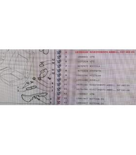 Rivestimento Abbellimento FIAT DOBLO Cod.183584160 sinistro