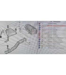 Manicotto di aspirazione scatola filtro aria Alfa 145/146 ORIGINALE CODICE 60611403