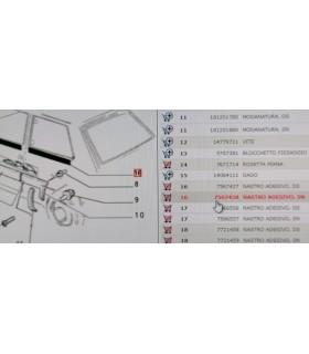 7567438 ADESIVO INFERIORE VETRO FISSO PARAFANGO POSTERIORE SINISTRO FIAT PANDA 4X4 1.0 B RICAMBIO NUOVO ORIGINALE