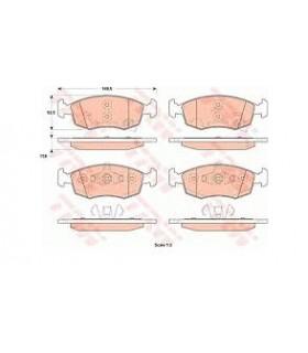 Kit pastiglie freno, TRW - Rif.: GDB1921 PANDA 1.3 D MJ 2012-