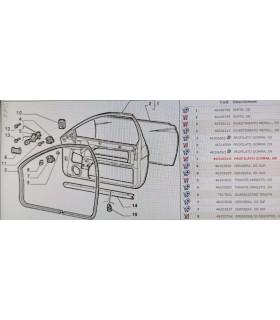 Guarnizione Profilo Gomma Vano Porta sx Fiat Coupe  46316510