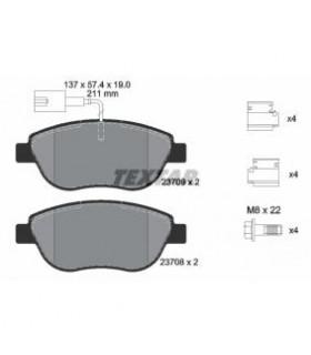 TEXTAR Kit pastiglie freno, Freno a disco  con sensore usura integrato, con bulloni -Numero articolo: 2370901