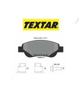 TEXTAR Kit pastiglie freno, Freno a disco  senza contatto segnalazione usura, con accessori Numero articolo: 2395901