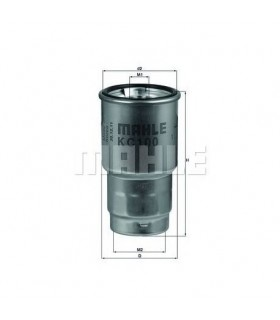 Filtro carburante MAHLE ORIGINAL KC 100D