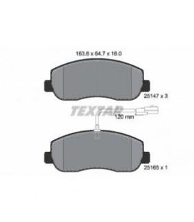 TEXTAR Kit pastiglie freno, Freno a disco  con sensore usura integrato Numero articolo: 2514701