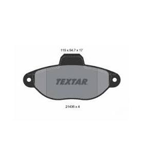 TEXTAR Kit pastiglie freno, Freno a disco  senza contatto segnalazione usura Numero articolo: 2143602