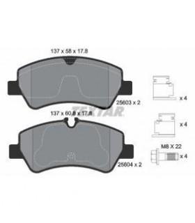 TEXTAR Kit pastiglie freno Predisposto per contatto segnalazione usura, con bulloni pinza freno RIF.  2560301