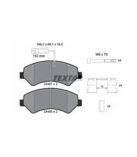 TEXTAR Kit pastiglie freno, Freno a disco con sensore usura integrato, con bulloni/viti, con accessori
